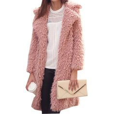 ROMWE offers Lapel Pockets Long Pink Coat   more to fit your fashionable  needs. 01ab427a69