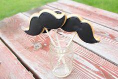Mustache Cookies on a stick - 1 dozen on Etsy, $36.00