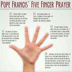Pope Francis -- 5 Finger Prayer