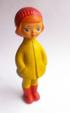russian girl ✭ vintage squeak toy