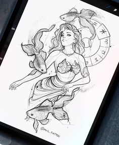 Dark Art Drawings, Art Drawings Sketches, Tattoo Drawings, Tattoos, Zodiac Art, Zodiac Signs, Sketch Tattoo Design, Beautiful Sketches, Disney Drawings