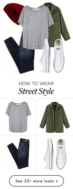 """""""Street style"""" by kucherawyd on Polyvore featuring American Eagle Outfitters…"""