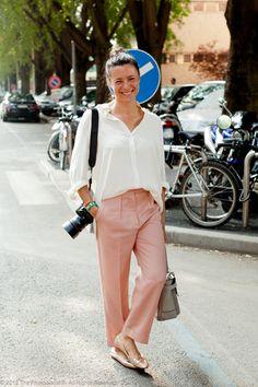 thephotodiarist:    Garance Dore, Milan Fashion Week S/S 2012