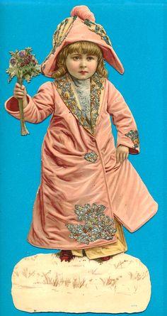Vintage Christmas Scrap Victorian Christmas, Pink Christmas, Christmas Images, Vintage Christmas, Victorian Angels, Vintage Labels, Vintage Ephemera, Vintage Cards, Vintage Images