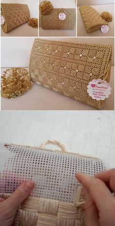 To Make All Your Projects Successful - Diy Crafts - Marecipe in 2020 Plastic Canvas Box Patterns, Plastic Canvas Stitches, Plastic Canvas Crafts, Crochet Bag Tutorials, Crochet Crafts, Diy Handbag, Diy Purse, Crochet Handbags, Crochet Purses