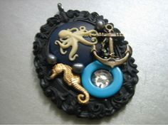OCTOPUS NAUTICAL BEADED NECKLACE $24.00