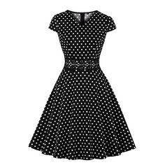 Pin Up, Short Sleeve Dresses, Dresses With Sleeves, Vestidos Vintage, Spandex, Fashion, White People, Black, Flare Skirt