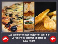 Los domingos saben mejor con pan! Y en La Panarteria estamos abiertos de 10:00-16:00.