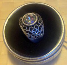 Vintage style crystal ring by Rossanascorner on Etsy, $22.50