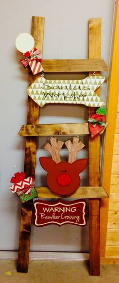 Christmas ladder kit by wood Creations, St. George Utah
