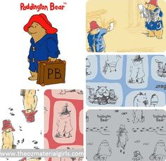 Paddington Bear Fabric perfect for quilting, clothing, kids sewing and so much more!