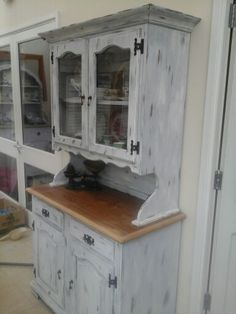 My first make over China Cabinet, Cupboard, Projects To Try, Storage, Furniture, Home Decor, Clothes Stand, Purse Storage, Armoire