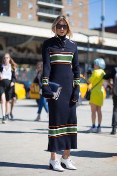 Put your best sweater forward. Seen on Harper's Bazaar.