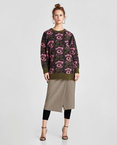 ZARA - SALE - FLORAL JACQUARD SWEATER
