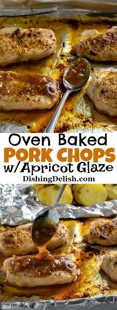 Oven Baked Pork Chops w/Apricot Glaze is a gluten free recipe thats flavorful and easy to make. This recipe is an easy sheet pan dinner thats easy to throw together. The post Oven Baked Pork Chops appeared first on Tasty Recipes. Best Baked Pork Chops, Oven Fried Pork Chops, Fast Dinner Recipes, Gluten Free Recipes For Dinner, Apricot Glazed Pork Chops, Pork Chop Dinner, Chops Recipe, Pork Chop Recipes, Oven Baked