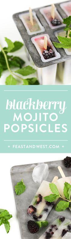 Blackberry Mojito Popsicles