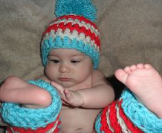 Ravelry: Dr Seuss Inspired Hat and Leg Warmers pattern by Jenna Adair