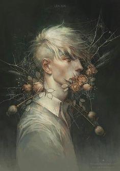 Dark, Fantasy, and Surreal Artwork from Deviant Artists Cool Animes, Drawn Art, Arte Obscura, Art Graphique, Boy Art, Pretty Art, Portrait Art, Aesthetic Art, Oeuvre D'art