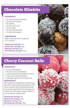 Nutrastart Guide For Foodaholics by canadianhealth - issuu Low Carb Protein, Protein Ball, Protein Foods, Protein Shakes, Coconut Balls, Coconut Flour, Protein Powder Recipes, Protein Recipes, Cake Tins