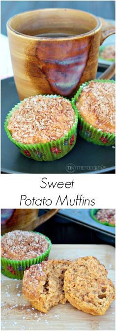 Light and airy Sweet Potato Muffins with a cinnamon crunch topping ...