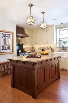I'm not always a fan of craftsman kitchens even though I love the style. But I do love this one!
