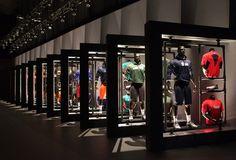 discount nike nfl jerseys www wholesalereplicajersey com Nike Nfl, Nfl Store, Nfl Uniforms, Clothing Store Interior, Showroom Design, Retail Store Design, Dressing, Shop Front Design, Merchandising Displays