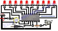 This is a led music level indicator circuit diagram for an amplifier. this led music level indicator can increase amplifier fit-out. also, we can understand the volume level. also can measurement the right and left side audio level. Electronic Circuit Projects, Electronics Projects, Circuit Diagram, Audio Amplifier, Speakers, Bar Graphs, Circuit Design, Light Music, Led