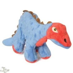 goDog Mini Spike The Stegosaurus Dog Toy with Chew Guard, Blue: Amazon.com: Pet Supplies