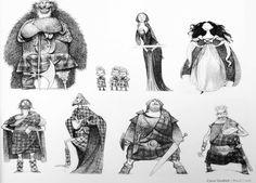 Carter Goodrich designs for Brave