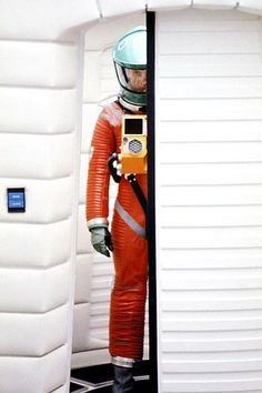 Dave shouldn't have worn an orange spacesuit if he truly did not wish to be seen.