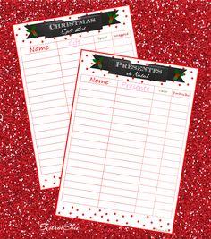 Christmas Gift List Freebie
