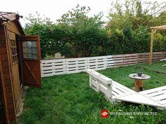 holz europaletten gartenzaun bauen clever | DIY | Gartenideen ...