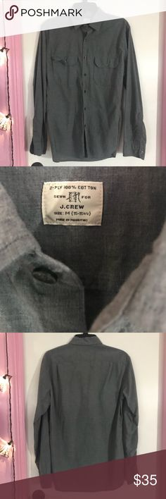 J. Crew Men's Oxford Long Sleeve Gray This is a J. Crew Men's Oxford Long Sleeve In Gray size medium. In excellent condition. Bundle up! I have more listing in this size! J. Crew Shirts Casual Button Down Shirts