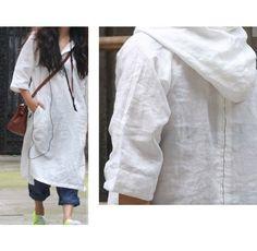 Hoi! Ik heb een geweldige listing gevonden op Etsy https://www.etsy.com/nl/listing/65621645/asymmetrical-hoodie-linen-shirt-dress-25