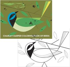 Charley Harper coloring book of birds  on apartment therapy