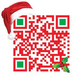 """Create a high-tech, super-cool Christmas greeting with QR codes"""