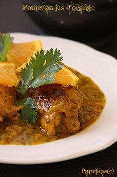 Recette de Poulet au jus d'orange : la recette facile