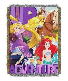 Look what I found on #zulily! Disney Princesses 'Up for Adventure' Throw #zulilyfinds