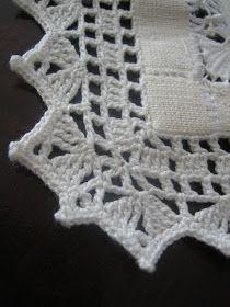 Crochet Border Patterns, Crochet Boarders, Crochet Blanket Edging, Crochet Lace Edging, Crochet Squares, Thread Crochet, Filet Crochet, Crochet Doilies, Crochet Stitches