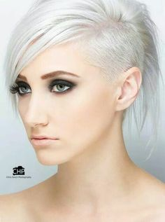 Platinum hair