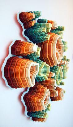 Многослойные, объемные картины и узоры из бумаги / Charles Clary