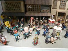 Close up of the diorama of one of the Hakata festivals at the Michiya Folk Museum, Fukuoka