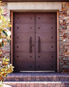 cool courtyard doors...need a peephole though.