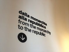 Bewegwijzering met losse letters The Republic