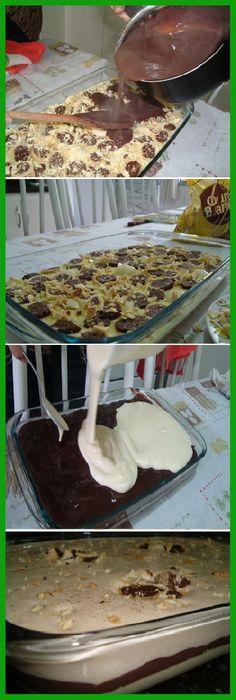 Me Super Encantó ¡El Mejor Postre que he comido en mi vida! #postres #chocolatelovers #chocolatecake #cakes #comohacer #lomejor #masa #bread #breadrecipe #pan #panfrances #panettone #panes #pantone #pan #receta #recipe #casero #torta #tartas #pastel #nestlecocina #bizcocho #bizcochuelo #tasty #cocina #chocolate Si te gusta dinos HOLA y dale a Me Gusta MIREN … Vegan Dessert Recipes, Pastry Recipes, Easy Desserts, Delicious Deserts, Yummy Food, Gelato Recipe, Eating Light, Crazy Cakes, Cake Shop