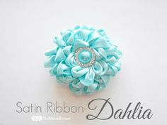 Satin Ribbon Dahlia ~ The Ribbon Retreat Blog
