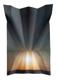 Folded Landscape Photographs Millee Tibbs is an artist that offer a different point of view on American landscapes that are photographed. In her series called Air/Plains and Mountains + Valleys she cleverly folded pictures of mountains and sunsets, to give them a geometrical dimension
