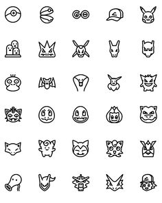 virus tattoo Free Pokemon GO Icons - Vector line and solid Icons collection pack for iOS, Android, Websites amp; Mini Tattoos, Cute Tattoos, Body Art Tattoos, Small Tattoos, Easy Tattoos, Pikachu Tattoo, Pokeball Tattoo, Pokemon Go, Pokemon Charmander