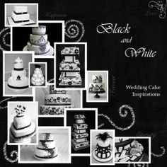 Several black and white wedding cake pictures and ideas! A must see for anyone planning a wedding.These are BEAUTIFUL! Clicking on the picture will take your to tons more!