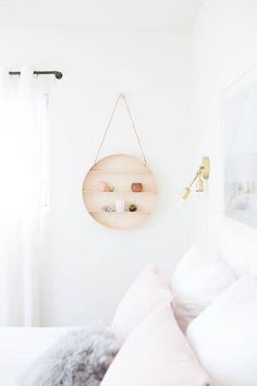 Design Love Fest's bedroom perfects the barely-there muted colors, and we love the subtle hints of pink she's integrated throughout. You might not expect it to work, but it does, and we'd love to see more of this new take on neutrals.    - ELLEDecor.com